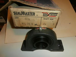 "MORSE BORG WARNER PILLOW BLOCK BEARING 2 3/16"" SEAL MASTER NPL 35C  — UNUSED"