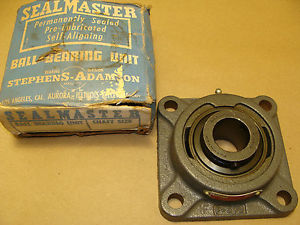 "SEALMASTER MSF-19 FLANGE BEARING ASSEMBLY 1-3/16"" BORE SHAFT O.D. F-506"