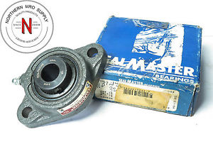 "Sealmaster SFT-10 Flange Bearing, 5/8"" ID, 2-Bolt, Grease nipple, Set Screw"