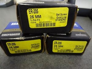 NSB SealMaster Emerson Gold Line Bearing ER-205 25 MM Set Screw LOT (3) NIB