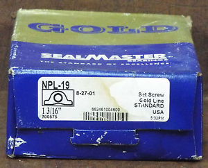 1  SEALMASTER NPL-19 PILLOW BLOCK BEARING ***MAKE OFFER***