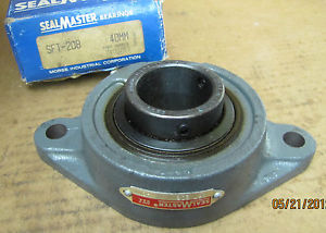 SealMaster Seal Master 2 Bolt Flange Bearing SFT-208 SFT208 40mm New