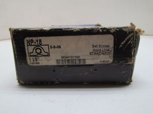 "Seal Master NP-18 1-1/8"" Gold Line Pillow Block Bearing NIB"