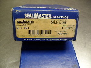 "SFT-18T Sealmaster Gold Line – Two Bolt Flange Bearing – 1-1/8"" bore  # 705480"