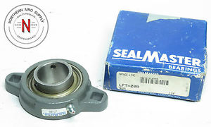 "SEALMASTER LFT-20R FLANGE MOUNT BEARING, 2-BOLT, 1.250"" BORE, SET SCREW COLLAR"