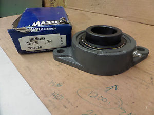 "SealMaster Two Bolt Flange Bearing MSFT-28 MSFT28 1 3/4"" Bore New"