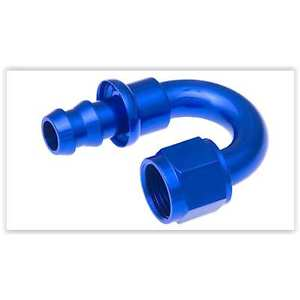 Red Horse Products 2180-08-1 Hose End -08 180 DEGREE AN/JIC HOSE END PUSH