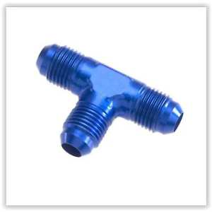 Red Horse Products 824-04-1 Tee Adapter -04 MALE AN/JIC FLARE TEE – BLUE