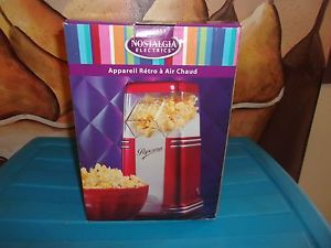 Awesome 50,s Style Nostalgia Electrics Hot Air Popcorn Popper 1040 Watt