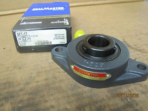 "Sealmaster Seal Master 2 Bolt Flange Bearing SFT-17 SFT17 1 1/16 1-1/16"" New"
