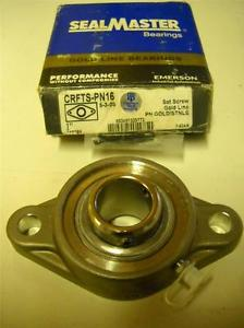 "Seal Master CRFTS-PN16 1"" 2 Bolt Stainless Flange Bearing ew In Box"