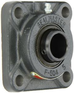 Sealmaster SF-16 Standard Duty Flange Unit, 4 Bolt, Regreasable, Felt Seals,