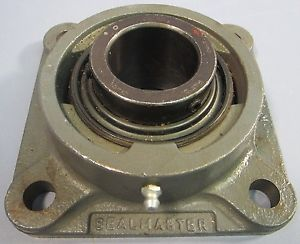 "Sealmaster Flange Block Bearing Model SF-26C 1-5/8"" bore 5-3/8"" base NWOB"
