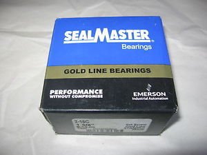 """SealMaster 2-16C Bearing Insert 1-3/8"""" Bore Gold Line- New Sealed in Factory Box"""