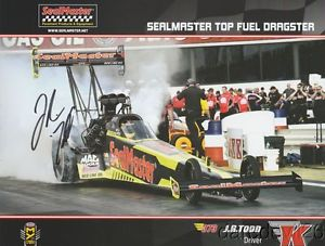 """2016 J.R. Todd signed SealMaster """"2nd issued"""" Top Fuel NHRA postcard"""