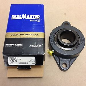 "Sealmaster MSFT-28 Medium Duty Flange Unit, Cast Iron Housing, 1-3/4"" Bore"
