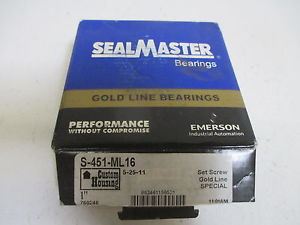 SEALMASTER S-451-ML16 FLANGE BEARING * IN A BOX*