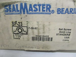 "SEAL MASTER SP-23 PILLOW BLOCK BEARING 1-7/16"" * IN BOX*"