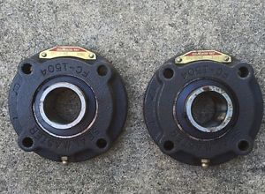 (2) Seal Master SFC-206C  4 Bolt Flange Bearing 30mm Used FC-1504