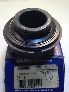 "SEALMASTER ER-18 GOLDLINE BEARING INSERT 1-1/8"" BORE   CONDITION IN BOX"