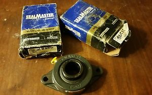 "Two SEALMASTER sft-24 2 bolt flange 1.5"" bore bearings"