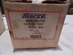 "Morse Sealmaster RCI 115 Cartridge Insert 1 15/16"" Bore size 550104 Bearing NOS"