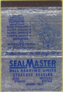 Matchbook Cover – Seal Master Ball Bearing Units Utica NY 40 Strike