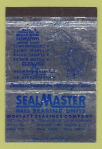 Matchbook Cover – Sealmaster Ball Bearings Moffatt Charlotte Atlanta 40 Strike