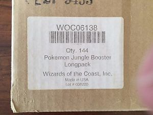 POKEMON JUNGLE LONG PACKS FACTORY SEAL MASTER VENDING CASE 144CT VERY RARE