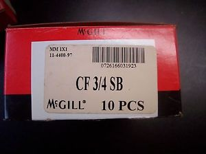 MCGILL BEARINGS CF-3/4 SB CAM FOLLOWER-Box of 10-Unopened,Brand New