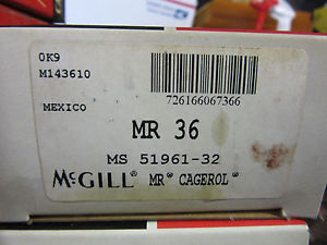 "McGill MR36 Cagerol Bearing 2-1/4"" ID X 3"" OD X 1-3/4"" Width !! Free Shipping"