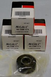 Lot of 3  McGill Cam Yoke Roller Bearing  MCYRR 12 S