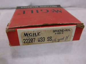 McGILL  Bearings, Cat# 22207 W33-SS  BUY WITH CONFIDENCE RETURNS ACCEPTED