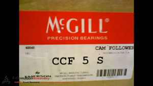 MCGILL CCF 5 S CAM FOLLOWER  5 INCH OUT SIDE ROLLER DIAMETER,  #173438