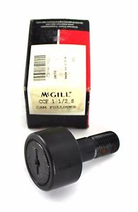 "McGill CCF 1 1/2 S Cam Follower 1-1/2"" Outside Diameter Standard Stud USA 4F"