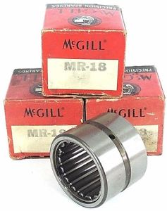 LOT OF 3 NIB McGILL MR-18 NEEDLE ROLLER BEARINGS MR18