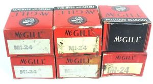 LOT OF 6 NIB MCGILL MI24 PRECISION INNER RACE BEARINGS MI-24