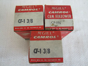 MCGILL CF-1 3/8 CAM FOLLOWER (LOT OF 3)
