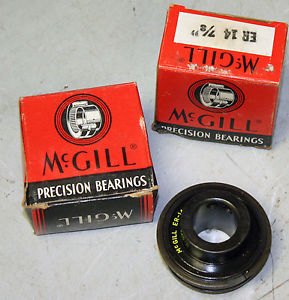 "McGill ER14 7/8"" Sealed Bearing Insert 2"" OD 1 3/8"" D 2x Set Screw W/ Snap Ring"