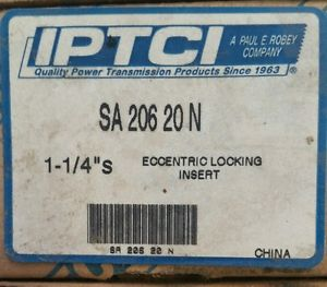 "New  SA 206-20N 1-1/4""  Insert Bearing eccentric locking insert IPTCI"
