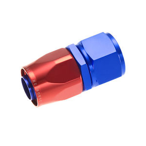 Redhorse Performance 1000-08-1 -08 Straight Female Aluminum Hose End – Red&Blue