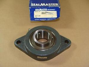 "SEALMASTER MORSE VFT-24 1-1/2"" BORE FLANGE BLOCK BEARING SET SCREW COLLAR"