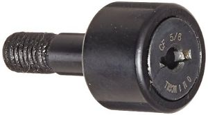 McGill CF5/8 Cam Follower, Standard Stud, Unsealed/Slotted, Inch, Steel, 5/8""