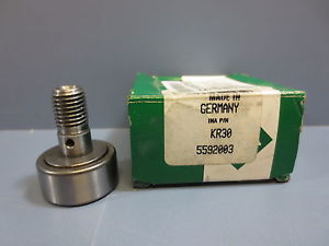 1 Nib Ina KRV-30 KRV30 Cam Follower Bearing RD 30mm RW 14mm Stud Diameter 12mm