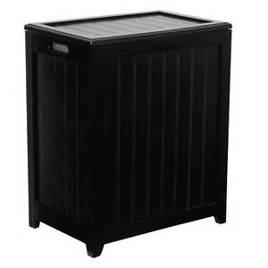 Rectangular Plywood Laundry Hamper in Mahogany Finish [ID 2292707]