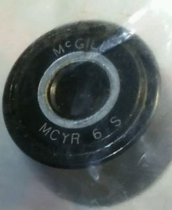 McGill MCYR-6-SMCYR-6-S Crowned Yoke Roller-Chrome Steel-Roller Cam Follower