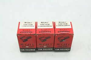 "3 New McGill CCFE-1-1/2 SB Cam Follower Bearings / 1.5"" Roller Diameter"
