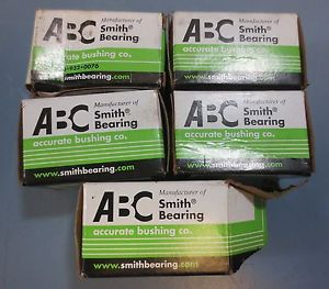 Lot of 5 Accurate Bushing Co Smith Bearing Cam Follower Model CR-5/8-XB New
