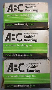 Lot of 3 ABC Accurate Bushing Co Smith Bearing Cam Follower Model CR-1-1/4-B NIB
