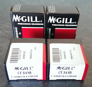 • 4x McGILL BEARINGS CF-3/4 SB CAM FOLLOWER — #GO